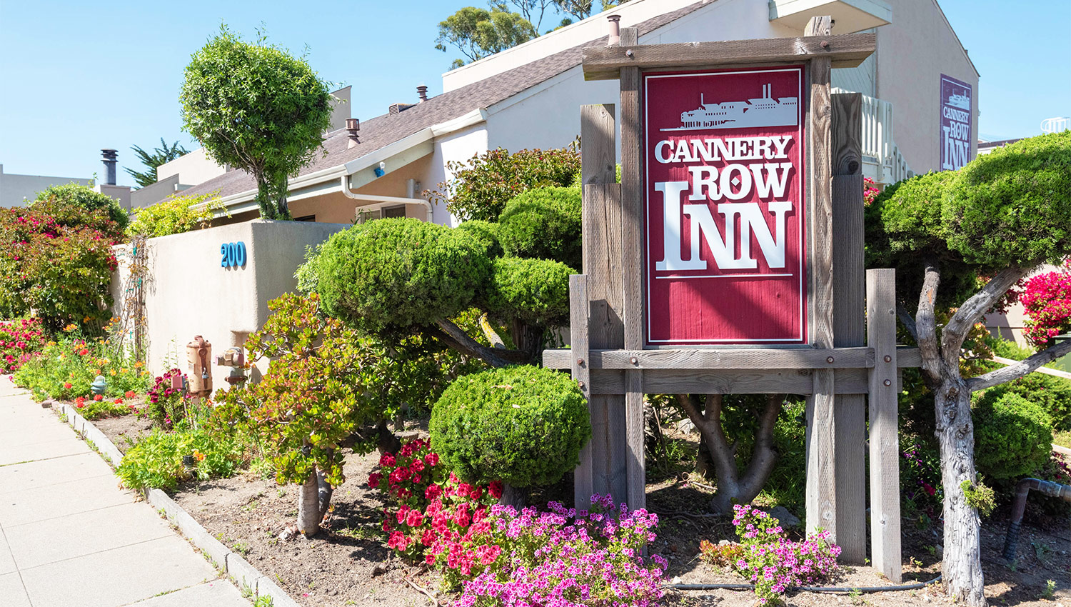Welcome To The Cannery Row Inn, minutes from the row in Monterey, CA